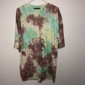 Nasty Gal Collection Tie Dye T-Shirt Dress